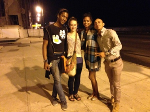 Our last night in Habana we went to a concert with Margarita and also invited Reynier. Afterwards we all went to another concert and also to see a Rumba band. It was the perfect last night, and afterwards we walked along the malecon with Reynier, his friend Kayla, and her boyfriend.
